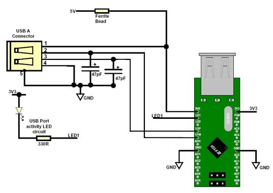 Circuito Usb : Schema circuito usb fare di una mosca