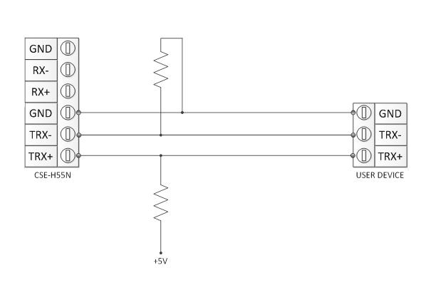 Schema elettrico rs485